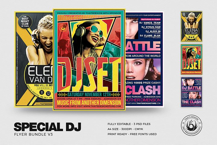 Special DJ Flyer Bundle V3