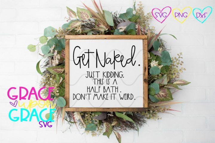Get Naked Bathroom SVG