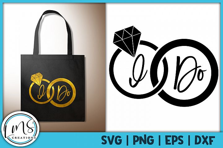 I Do Wedding Rings SVG, PNG, EPS, DXF