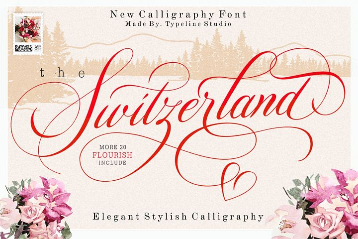 Switzerland Elegant Stylish Calligraphy Script