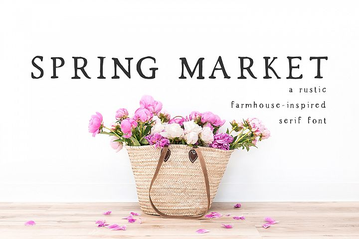 Spring Market - Rustic Serif Font - Free Font of The Week Font