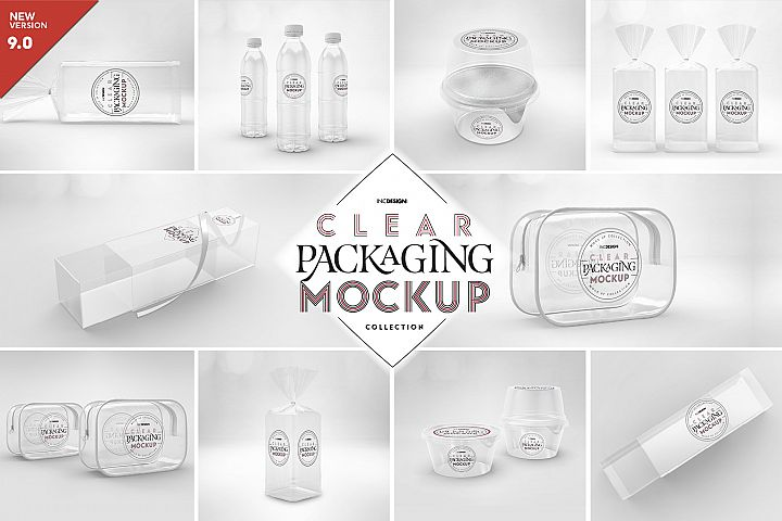 VOL.9 Clear Packaging Mockup Collection