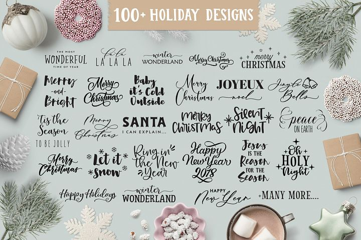 Christmas/Holiday Quotes SVG Design Bundle, Christmas SVG