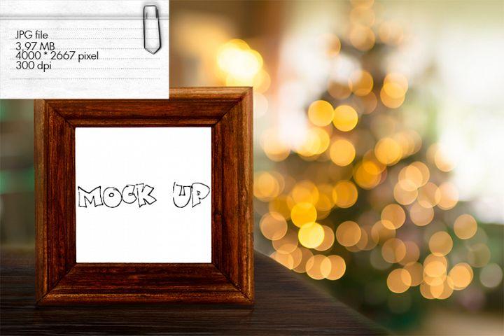Mock Up - frame in christmas room