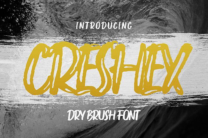Creshex Dry Brush Font
