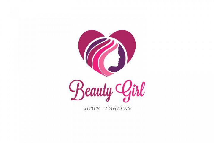 Heart Shape Girl Logo