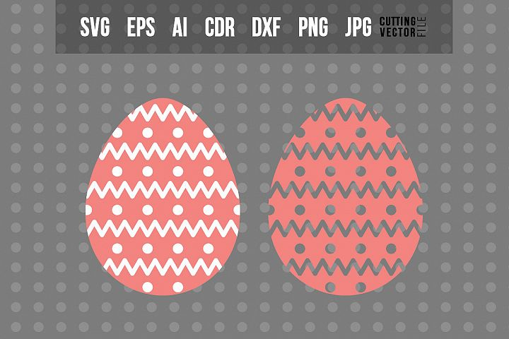 Easter Egg SVG - Vector Design