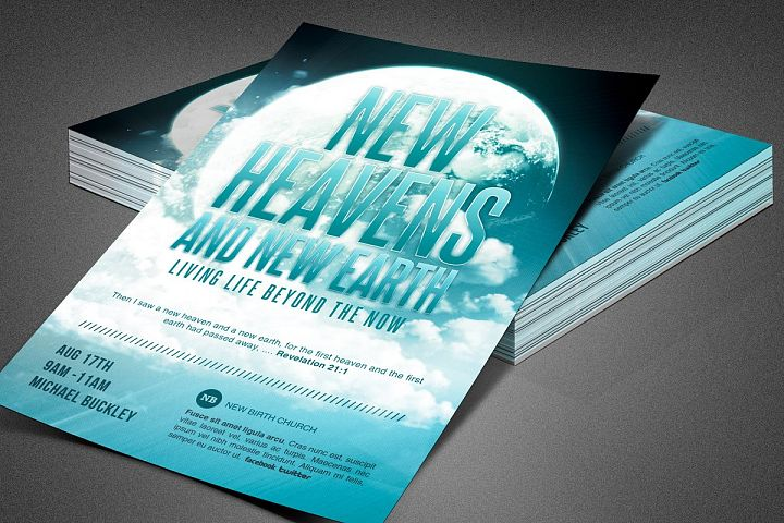 New Heaven and Earth Church Flyer