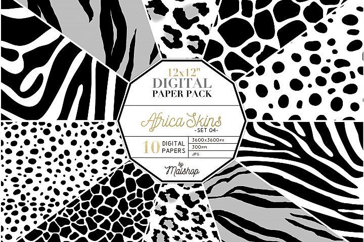 Digital Paper Pack - Africa Skins Set 04