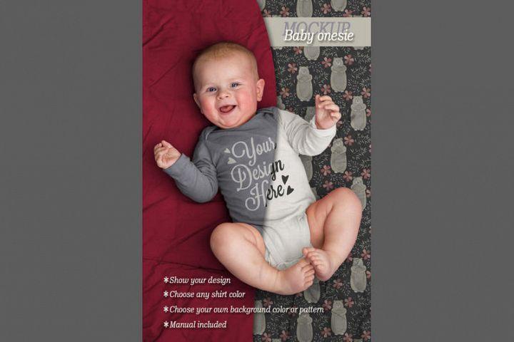 Mockup baby onesie