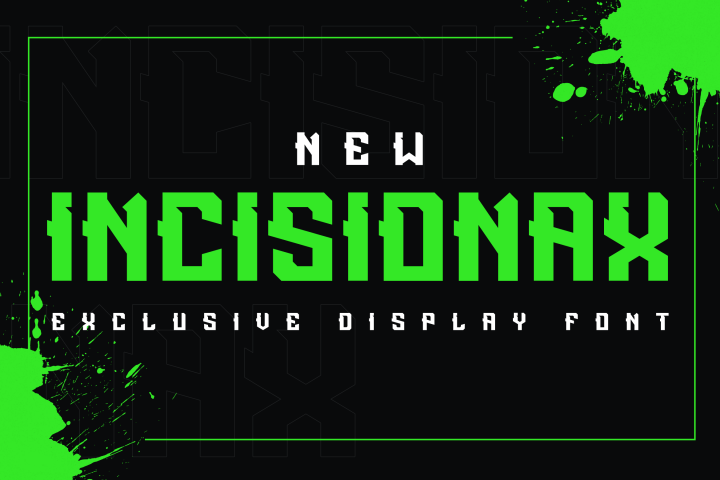 Incisionax Exclusive Display Font