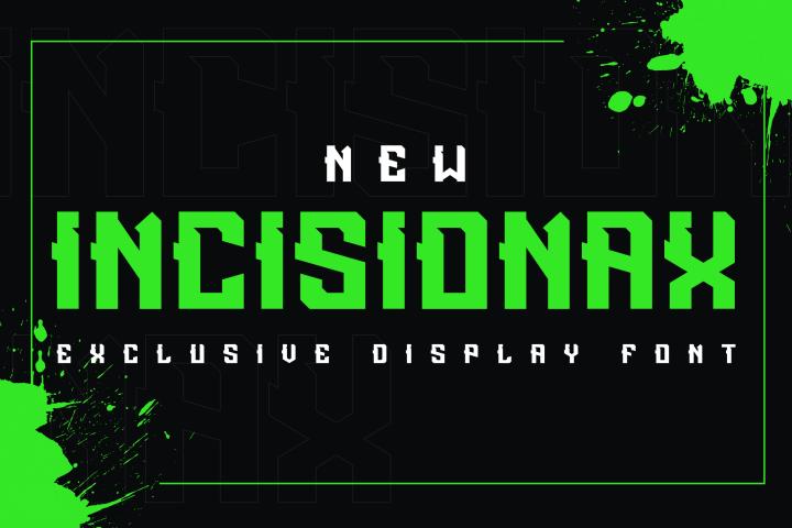 Incisionax Exclusive Display Font