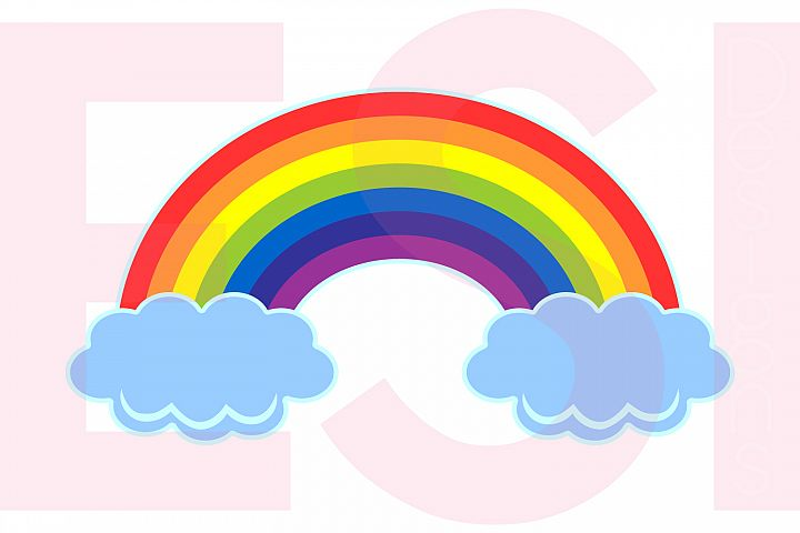 Rainbow in the Clouds Design example