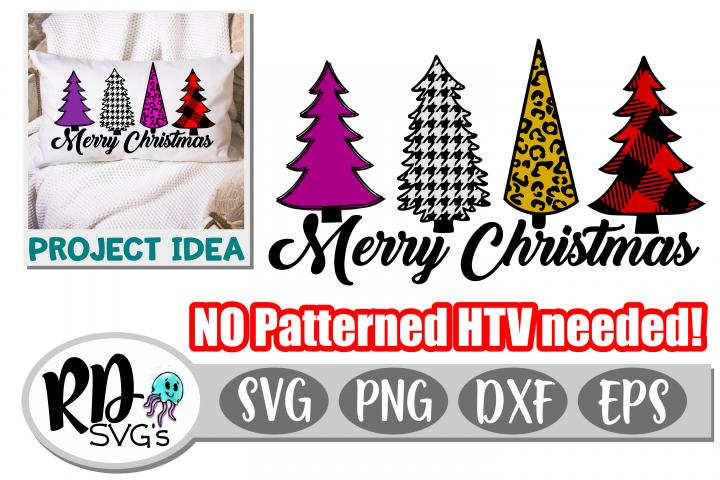Patterned Christmas Trees - A Christmas Cricut Cut File