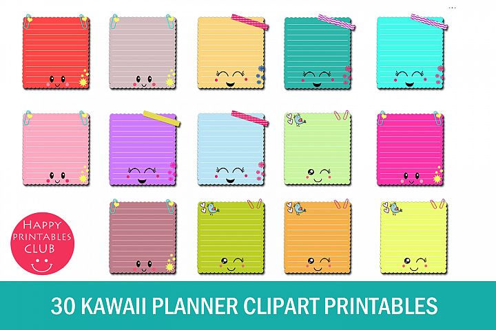 30 Kawaii Planner Clipart- Kawaii Planner Accessories