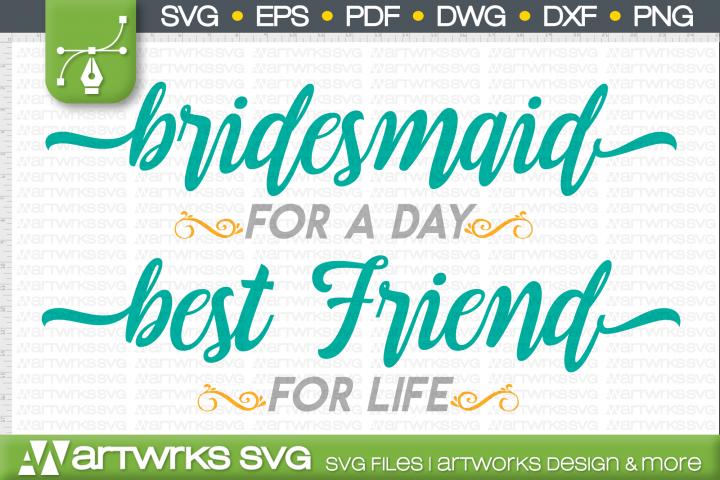 Wedding gift SVG files for Cricut | Brides best friend