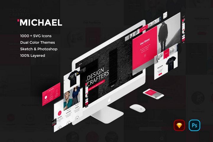 Michael Creative Website UI Kit