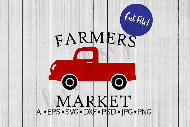 Farmers Market SVG, Farmhouse SVG, DXF File, Cut File