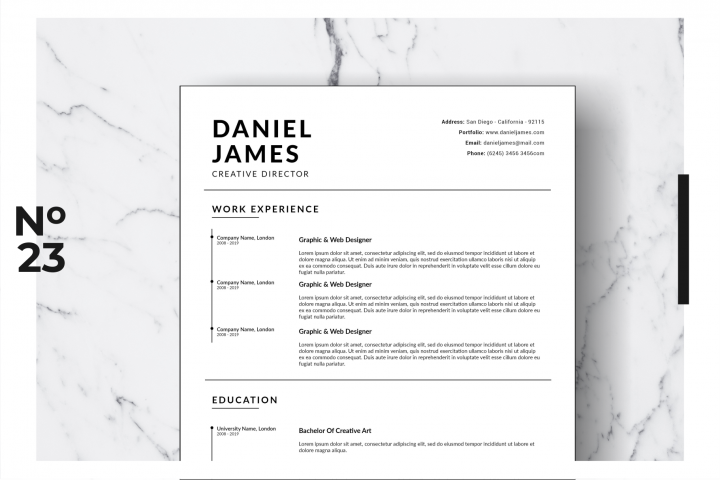 Resume Template Vol. 16