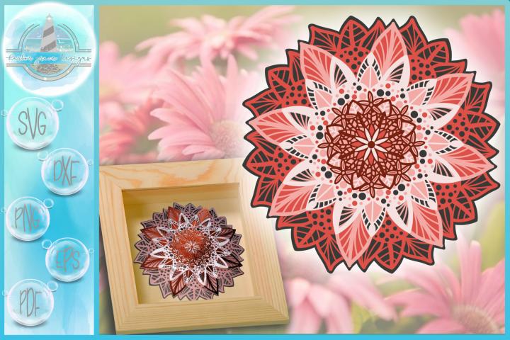 3D Floral Mandala Multi Layered Mandala SVG