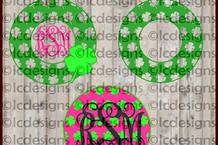 LC081 Shamrock Monogram Frame - Layered Design