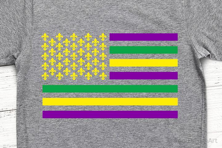 Mardi Gras Flag SVG, DXF, PNG, EPS