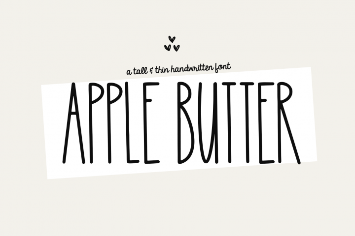 Apple Butter - A Tall Handwritten Font
