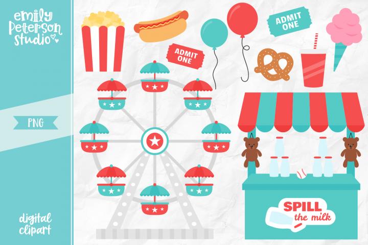 Carnival Fun Clipart Illustration