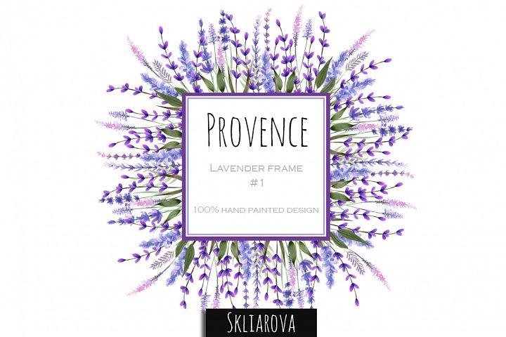 Provence. Lavender frame #1