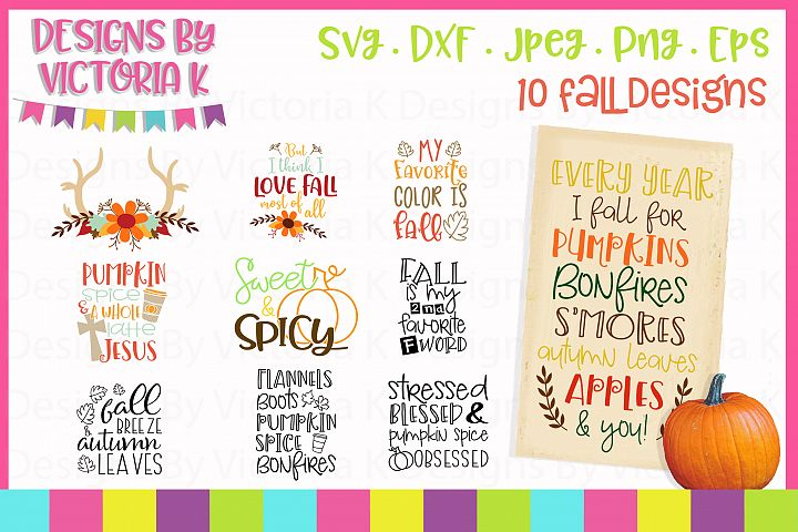 Fall Autumn Bundle, Fall, SVG, DXF, PNG