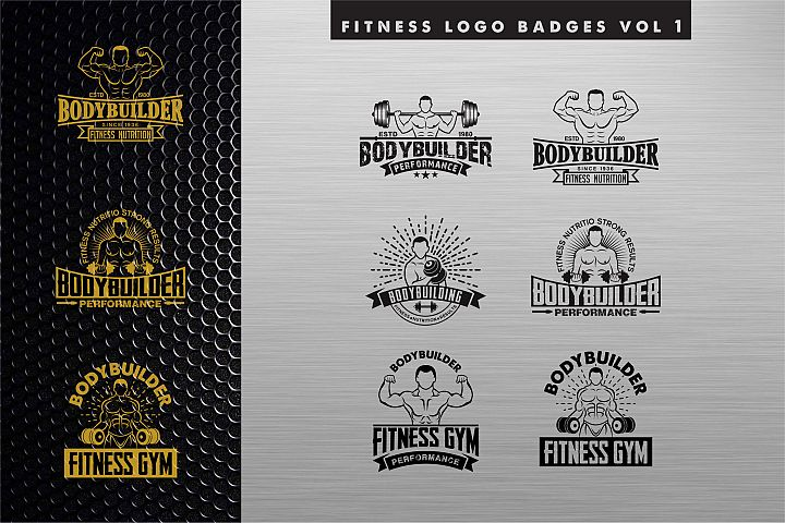 Bodybuilding Gym Logo
