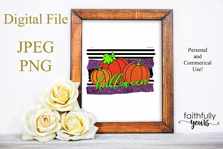 Halloween Pumpkins Sublimation Design PNG JPEG