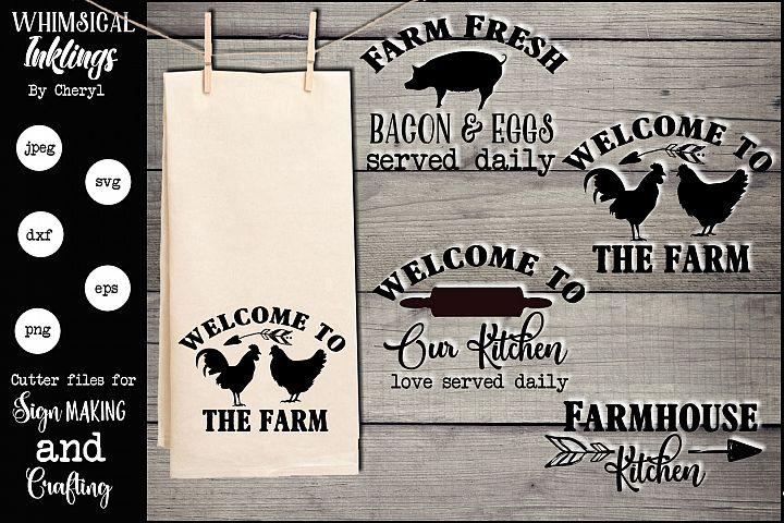 Farmhouse Kitchen Dishtowel SVG Set