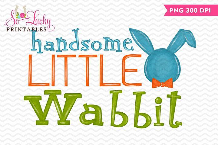 Handsome Little Wabbit paintedprintable sublimation design