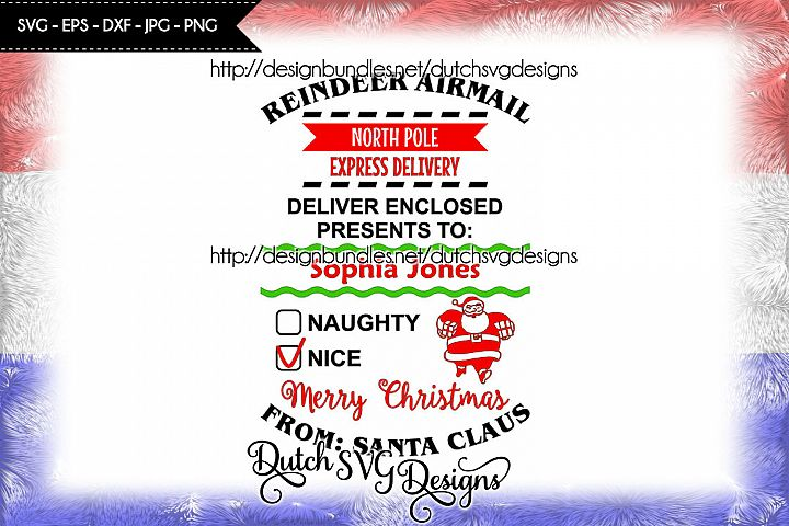 Santa Delivery cutting file, santa sack svg, christmas svg