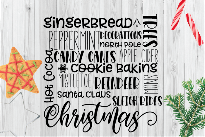 Christmas Subway Art SVG