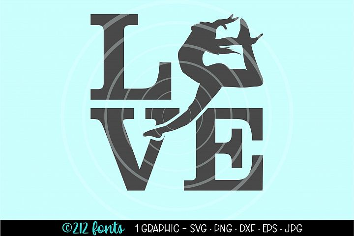 Dance Leap LOVE Jump Graphic Cut File DXF PNG JPG SVG EPS