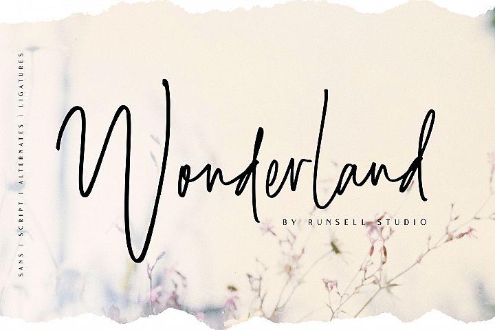 Wonderland | Script & Sans Serif