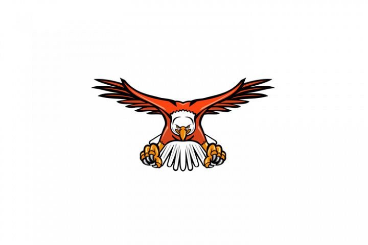 Bald Eagle Swooping Front Mascot