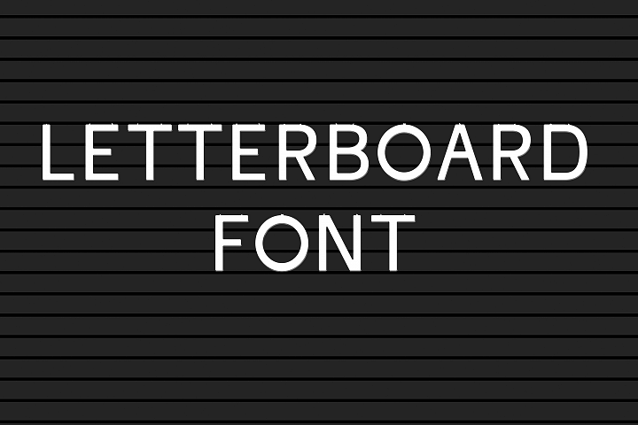 Letter board font - A believable letterboard look