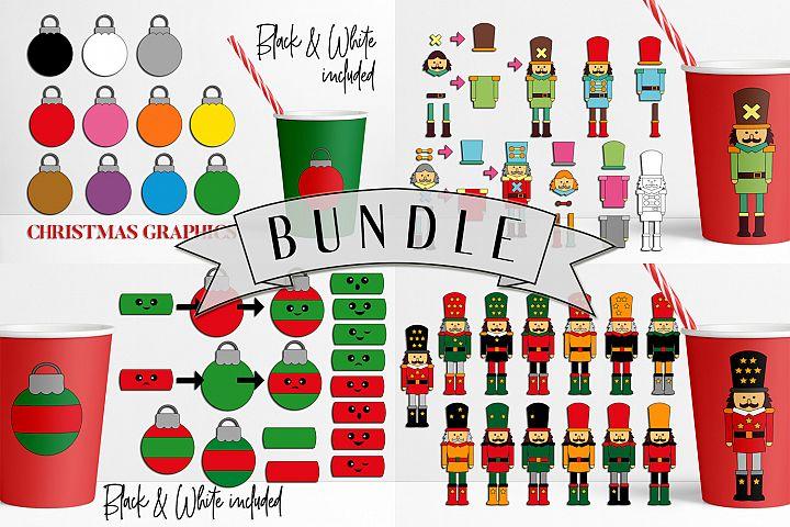 Christmas Bundle - Nutcrackers and Ornaments Illustrations