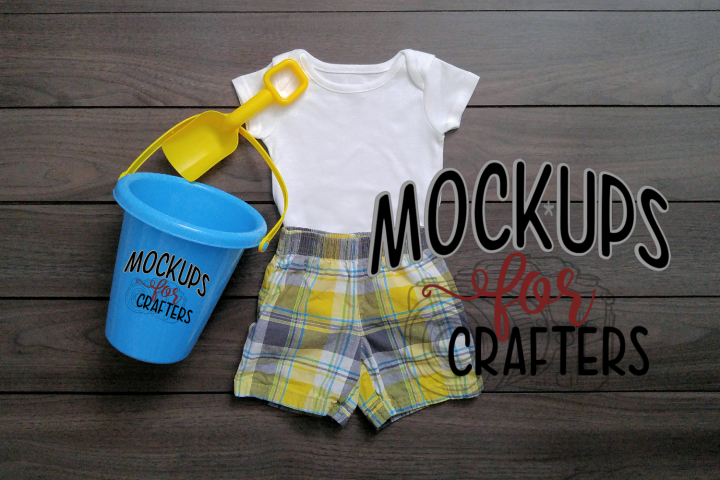 MOCK-UP - 1-pc baby bodysuit - dollar store accessories