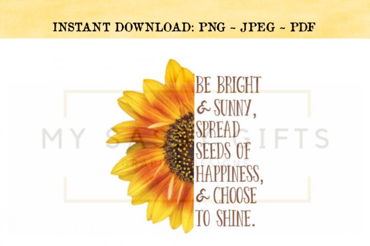 Inspirational Sunflower PNG Design
