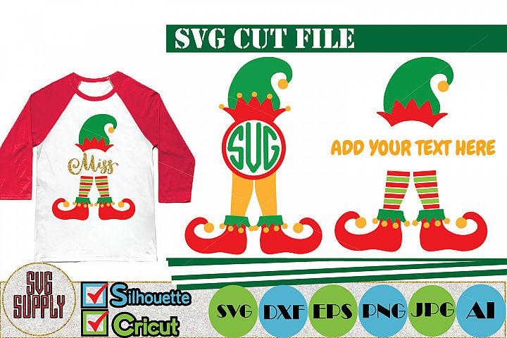 Elf Monogram SVG Cut File