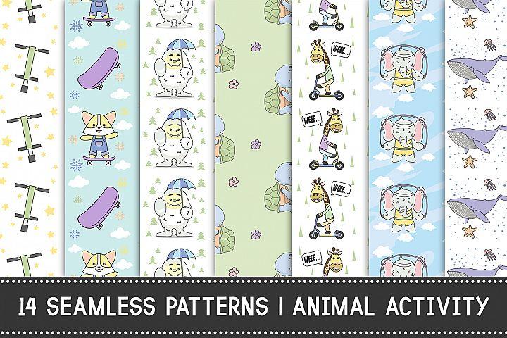 14 Seamless Pattern   Animal Activity
