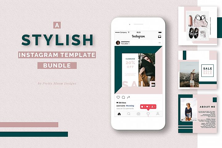 A Stylish Instagram Templates Bundle