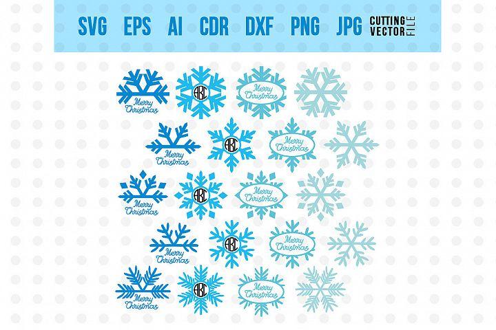 Snowflake Monogram - SVG
