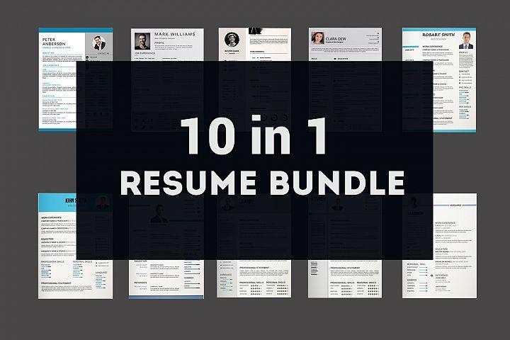 Resume Template | 10 Resume Bundle