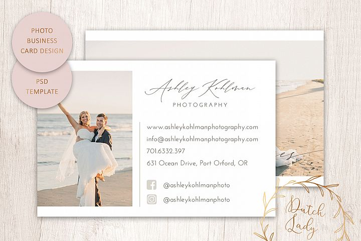 PSD Photography Business Card Template #1