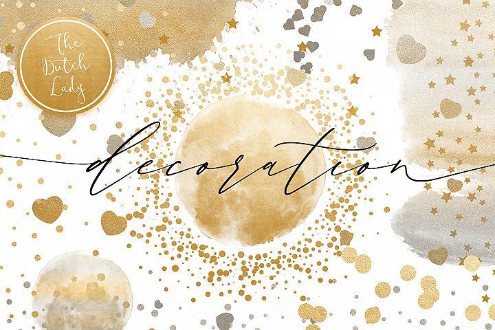 Confetti Overlay & Decorations Clipart Set